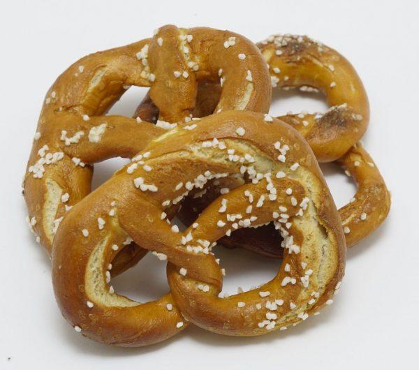 hard pretzels with salt