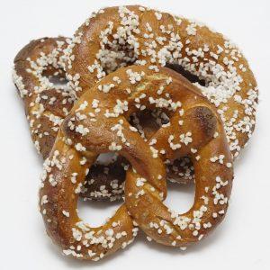 Hard pretzels with a lot of salt