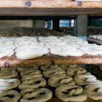 trays of pre-baked pretzels